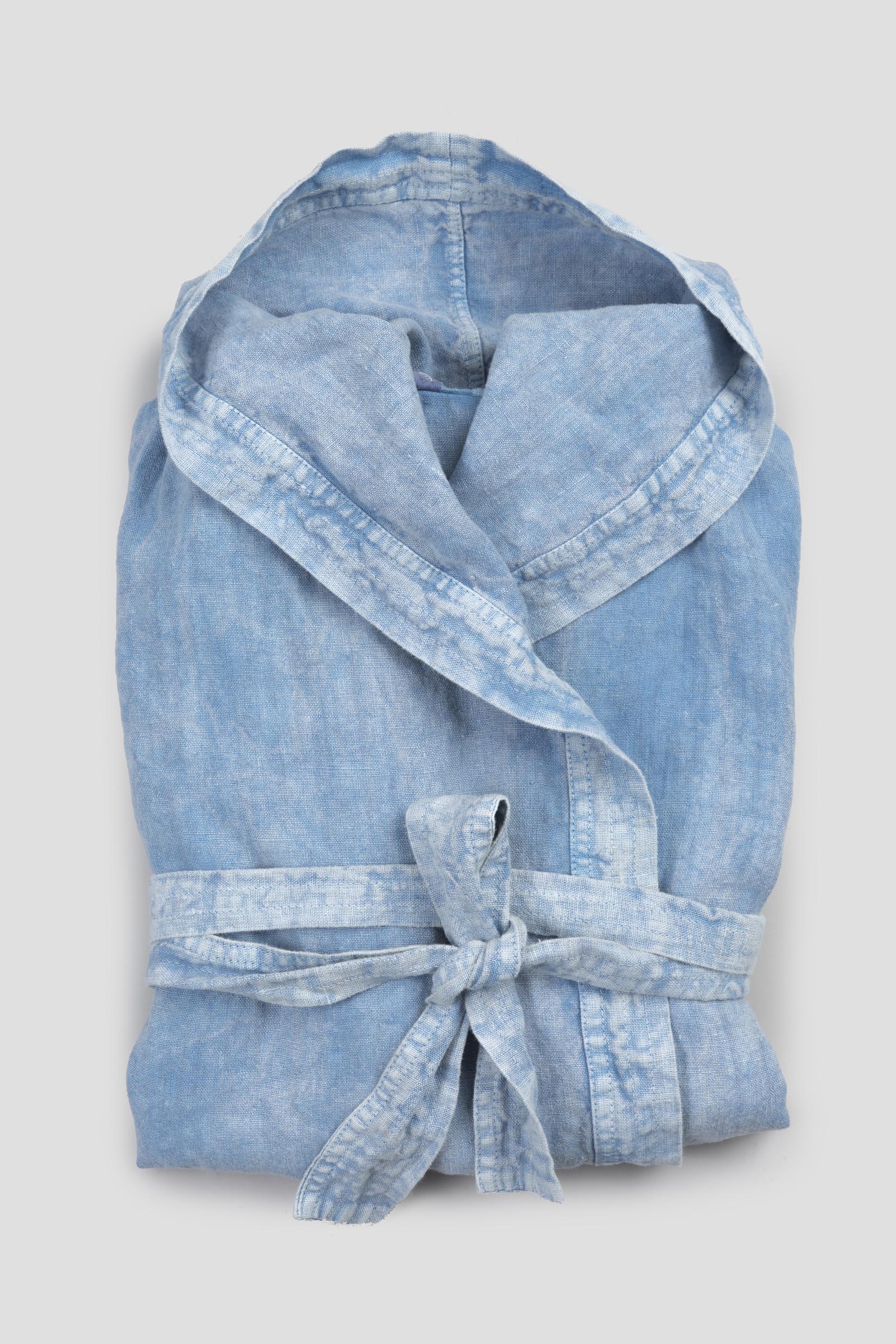 Heavy Linen Bathrobe With Hood Arte Pura
